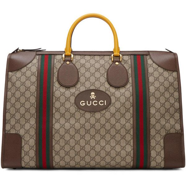 70bf7572776c Gucci Beige Neo Vintage Duffle Bag featuring polyvore men s fashion men s  bags beige gucci mens bag men s duffel bags