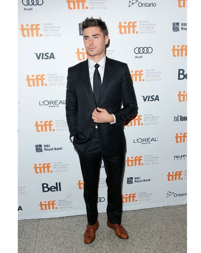 Zac Efron S 13 Most Gq Moments Style Black Suit Brown Shoes