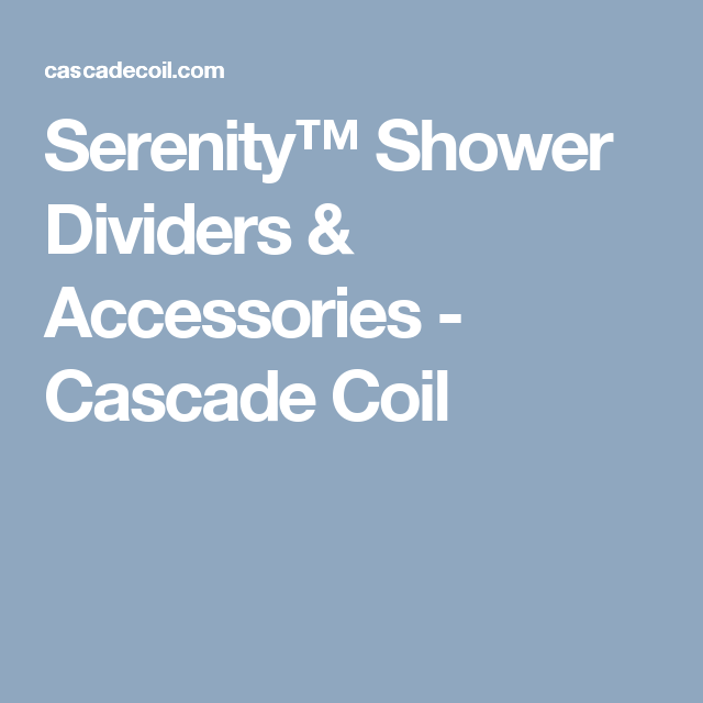 SerenityTM Shower Dividers Accessories