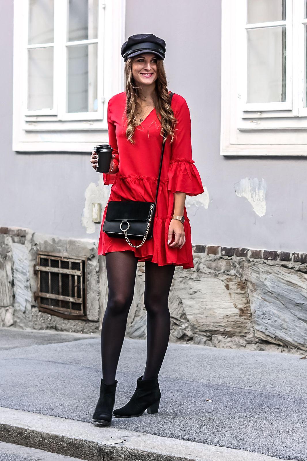 rotes kleid kombinieren - so gelingt dir ein stylischer look