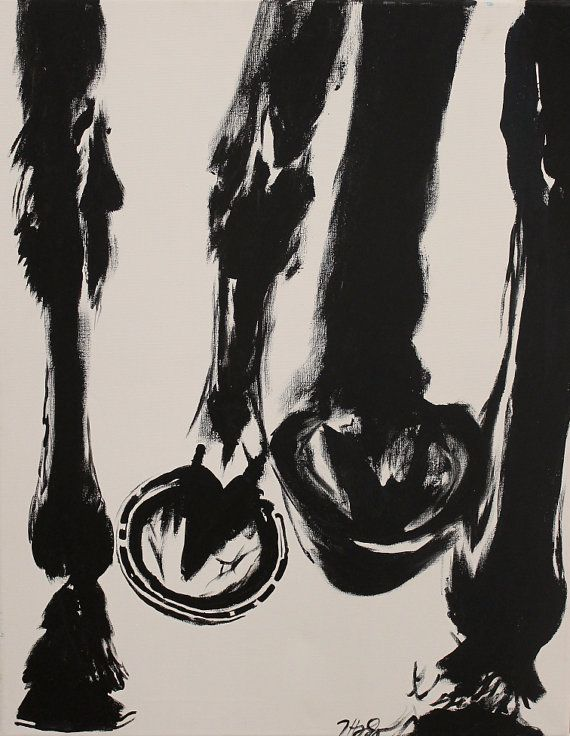 Original Abstract Painting Black & White