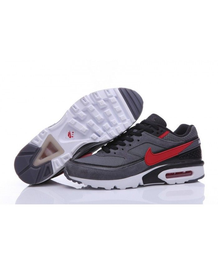 Nike Air Max Classic BW Mens Premium Dark Grey Red