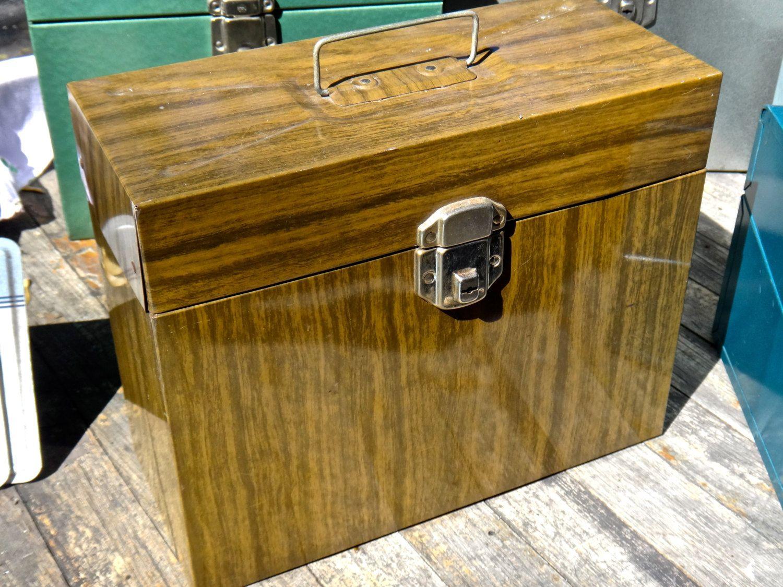 File Box, Porta File, Brown Box, Woodgrain Box, File Folder Box, Magazine Storage, File Case, MCM, Industrial, Office, Dude Finds, Organizer by MaxsUniquities on Etsy