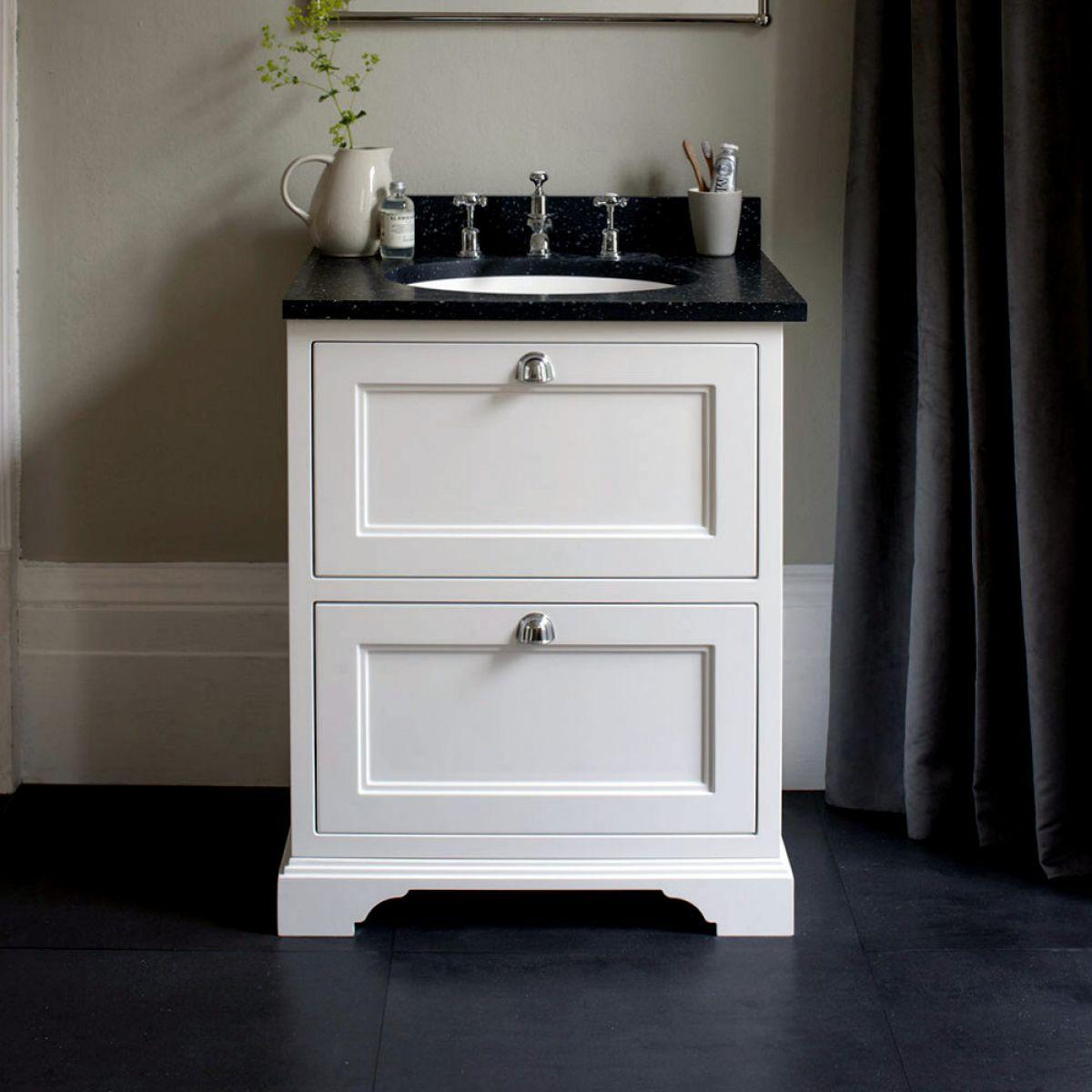 Burlington 65 Freestanding Vanity Unit With Two Drawers Uk Bathrooms