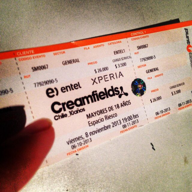 #Creamfields #chile