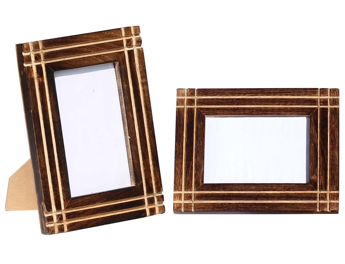 Beautiful illustrations handmade wooden 5x7 photo frame picture beautiful illustrations handmade wooden 5x7 photo frame picture holder with straight line carving at jeuxipadfo Images