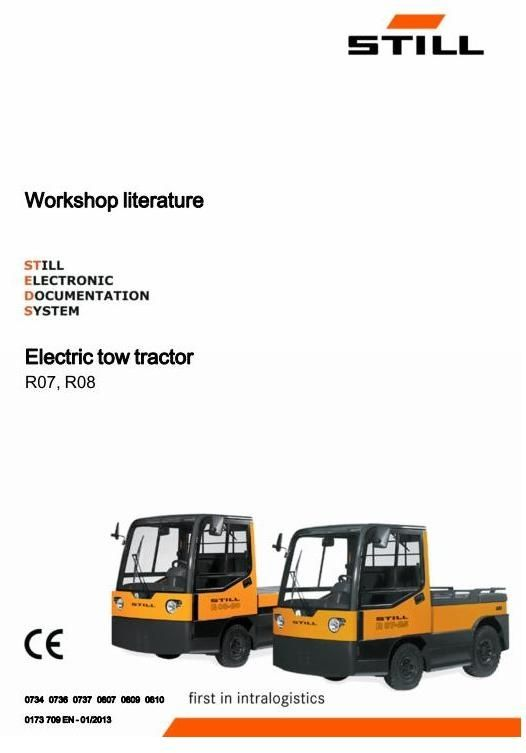 Original Illustrated Factory Workshop Service Manual For Still Electric Tow Tractor Type R07