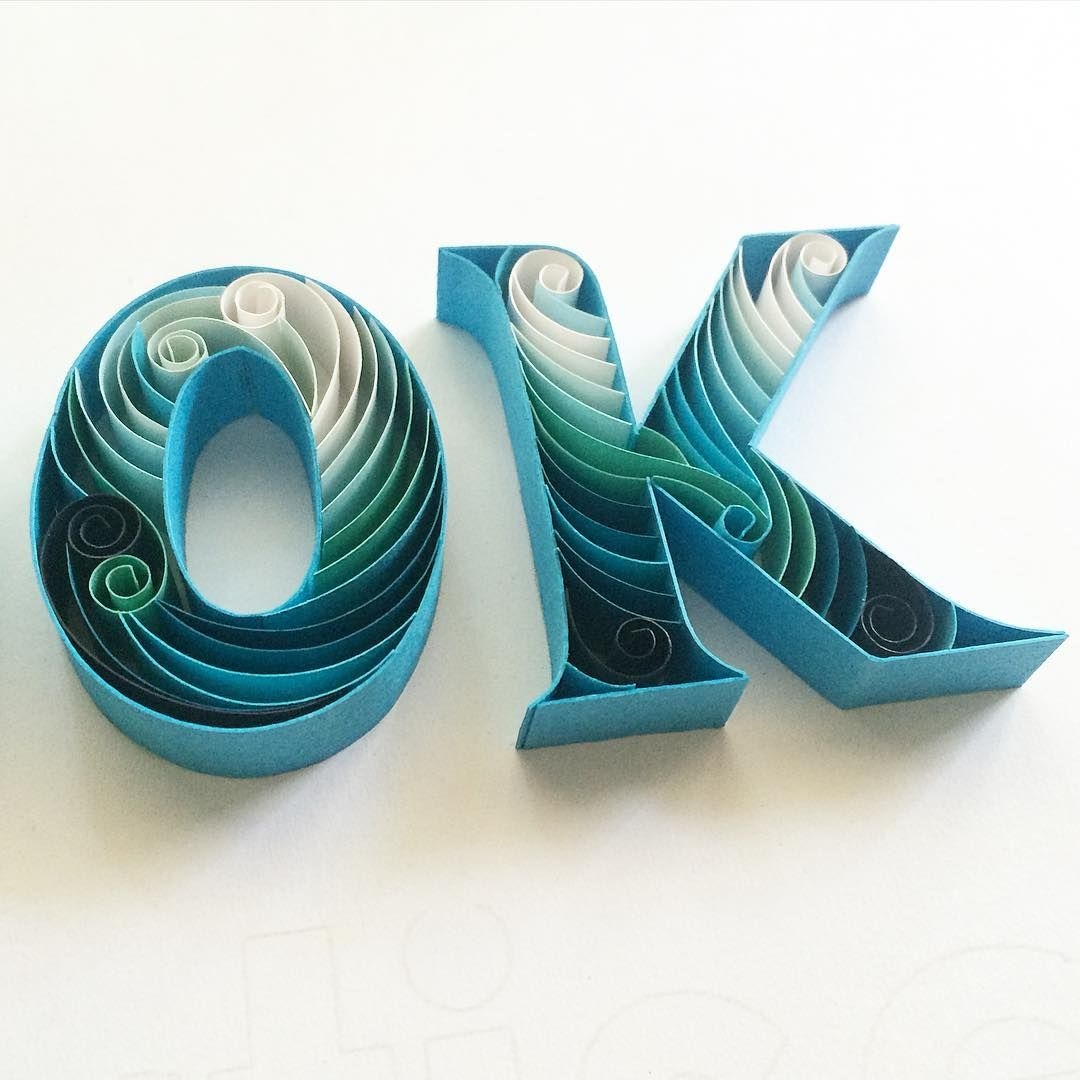 Paper Art - Typography by @sabeenu Follow us on Instagram: @betype