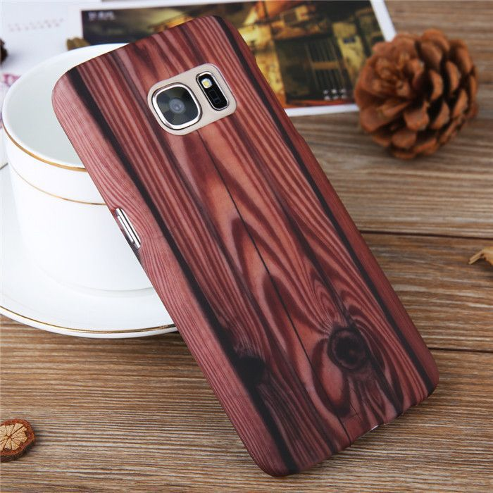 Luxury Ultra-thin Wood Grain Vintage Retro Style Hard PC Mobile Phone Case for Samsung Galaxy S7 S7Edge