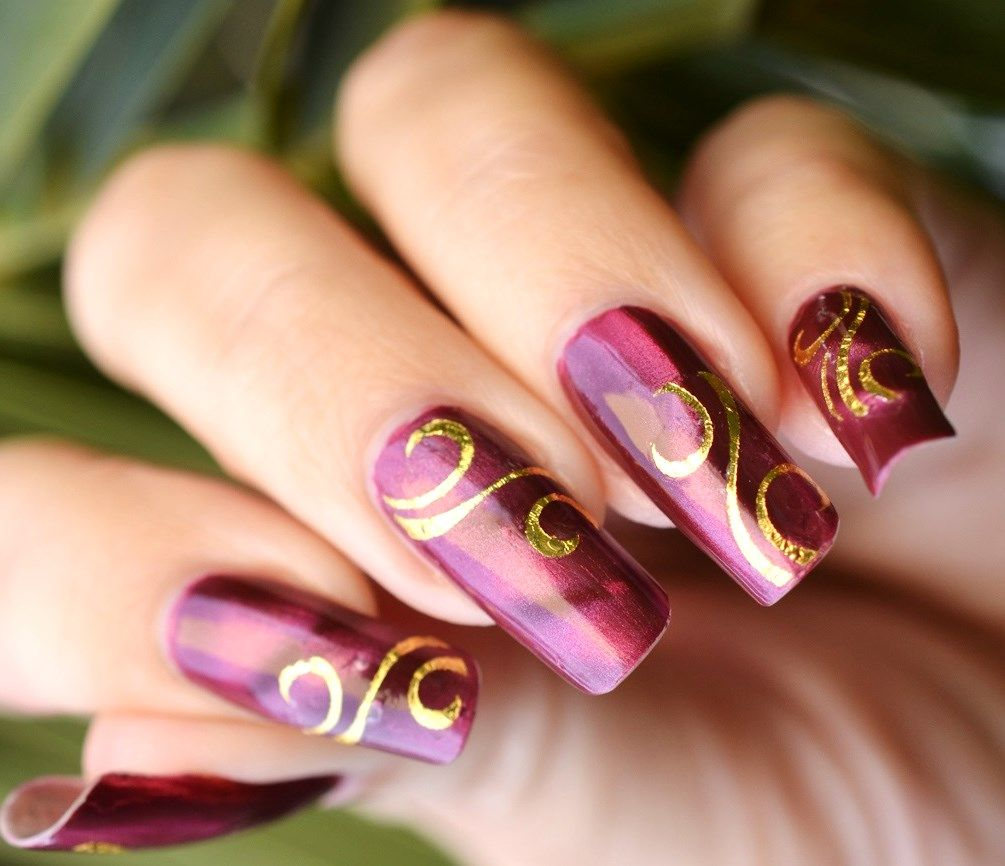 Nail Design Ideas 2012 80 classy nail art designs for short nails Stylish Nail Art Golden Design Latest Nail Art Designs Nail Art Ideas 2015