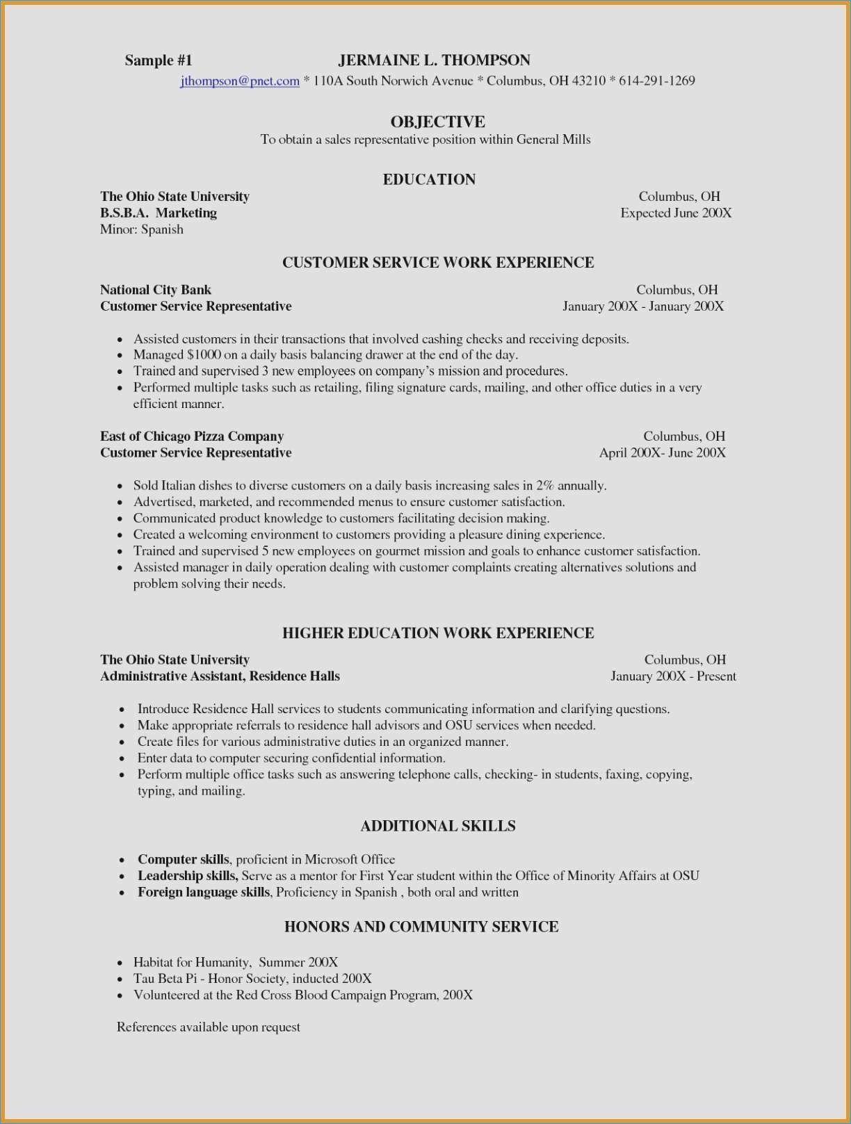Babysitter Job Description For Resume Unique New Waiter Cv Bergen