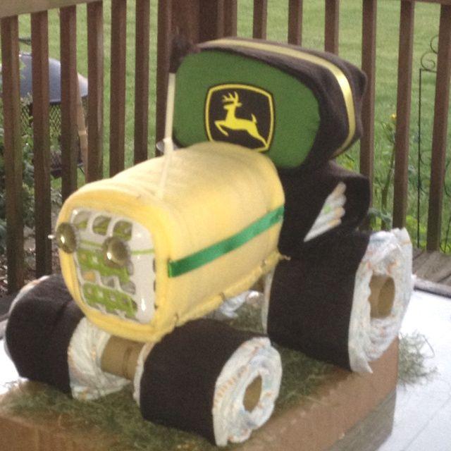 John Deere Diaper Tractor : John dere tractor diaper cake gift ideas baby showers