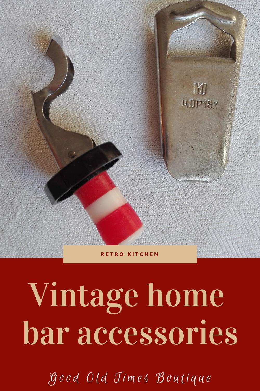 Vintage home bar accessories, Beer bottle opener, Lever arm