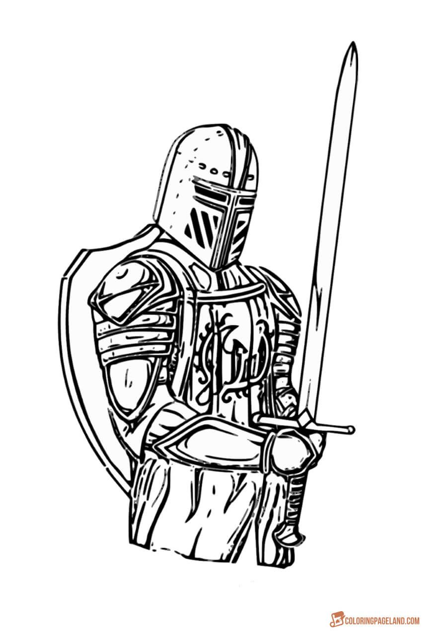 Knights Coloring Pictures Download And Print Out For Free Coloring Pictures Knight Drawing Coloring Pages