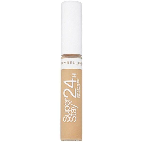 Maybelline Maybelline Superstay 24Hr Concealer Medium 03 (£6.99) ❤ liked on Polyvore featuring beauty products, makeup, face makeup, concealer, corretivo, maybelline concealer, maybelline and maybelline face makeup