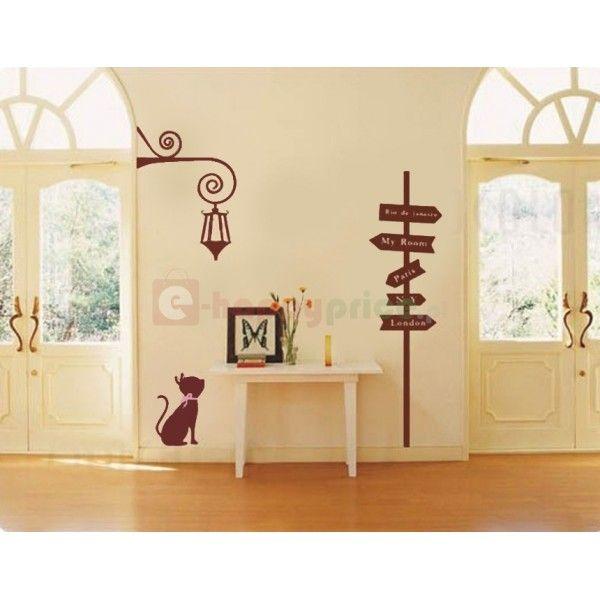 http://e-happyprice.pl/pl/dom-i-dekoracje-/1107-naklejka-scienna-dekoracyjna-drogowskaz-i-kot-brazowa.html