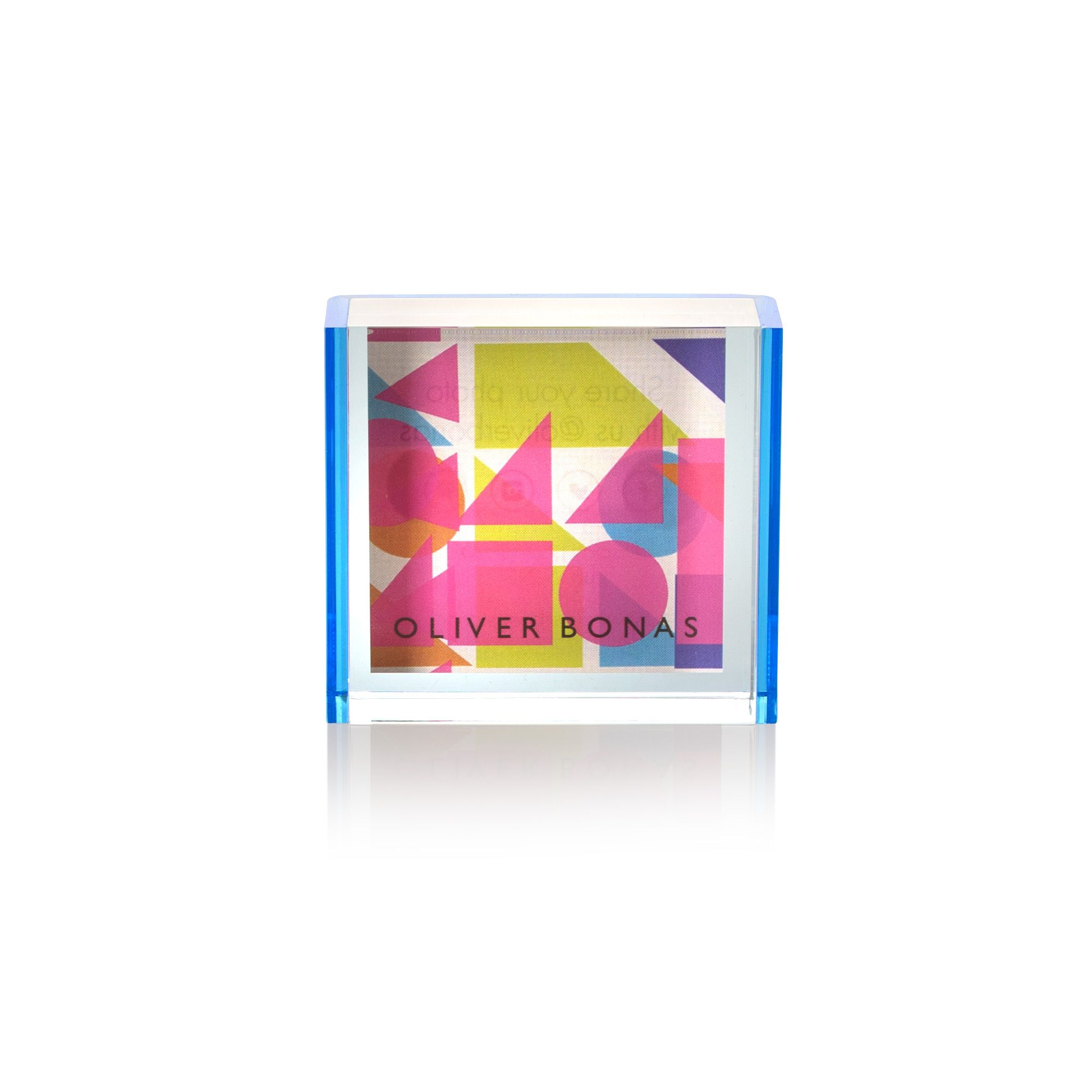 Bedrooms Buy Blue Acrylic Neon Block Frame 2 X 2