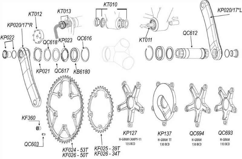 2011 Cannondale Road Crank And Bottom Bracket Exploded Diagram Sum