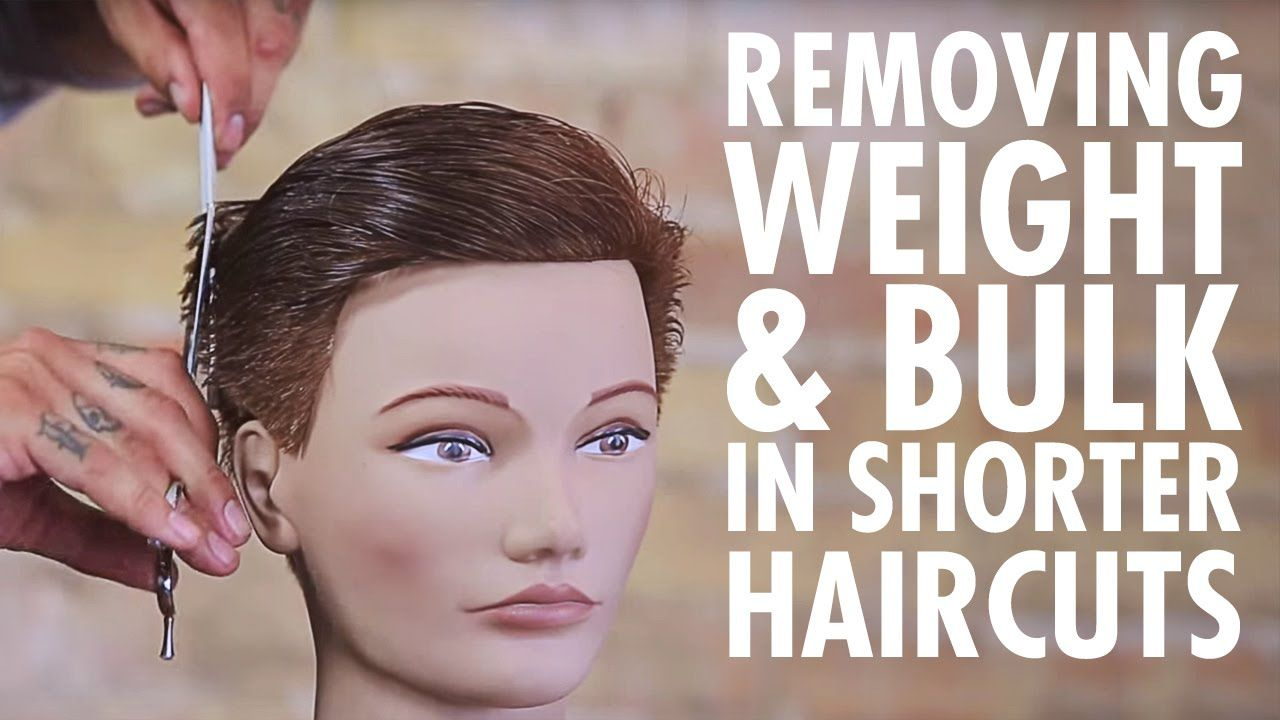 Texturizing technique for weight u bulk removal in shorter haircuts