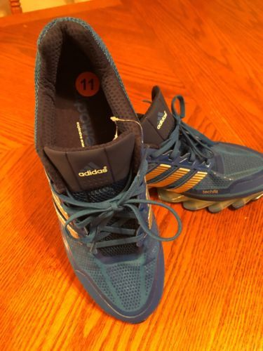 low priced 6b2d6 d9446 ADIDAS SPRINGBLADE RUNNING SHOES G99643 BLUE BEAUTY METALLIC SILVER 11