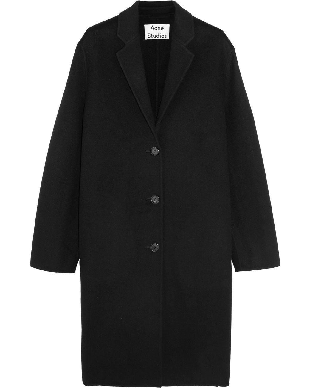 79c1e326b343 Acne | Black Avalon Doublé Oversized Wool And Cashmere-blend Coat | Lyst