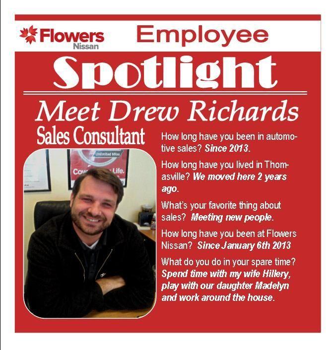 #EmployeeSpotlight Meet Drew Richards, Sales Consultant At Flowers Nissan.