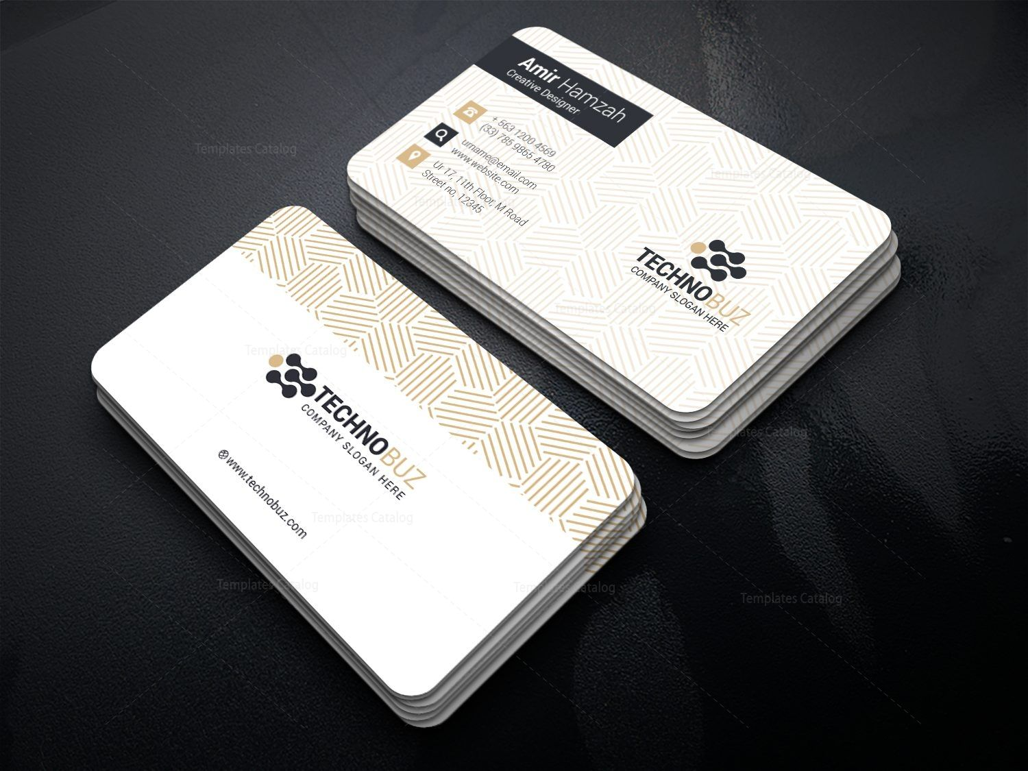 Creative Corporate Visiting Card Template   Graphic