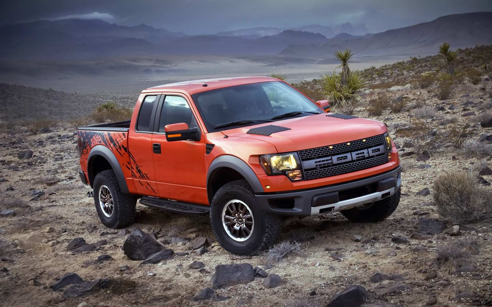 Classic trucks & Fords - orange raptor off-roading | Ford SVT Raptor Trucks ... markmcfarlin.com