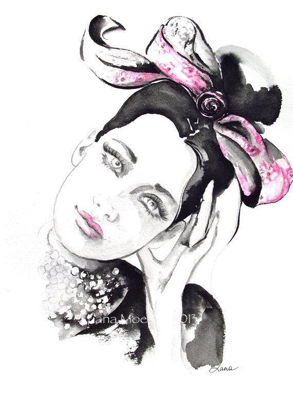 Fine Art Print from Original Watercolor Fashion by LanasArt, $20.00
