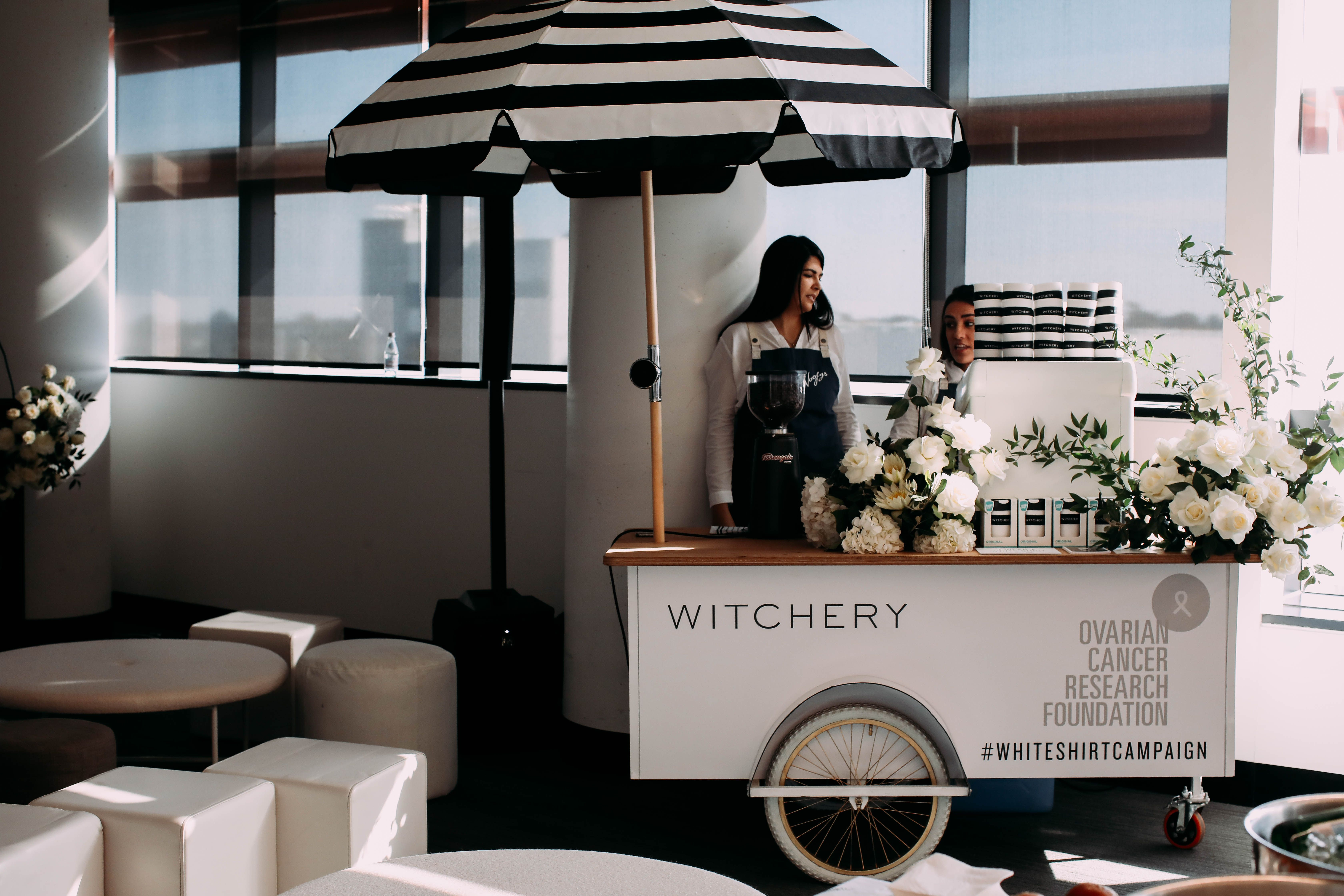 Coffee cart for Witchery's OCRF pop up event. #coffeecart #brandactivation #brand #event #eventcatering