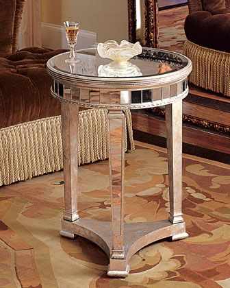 Amelie Mirrored Lamp Table Mirrored Furniture Coffee Table