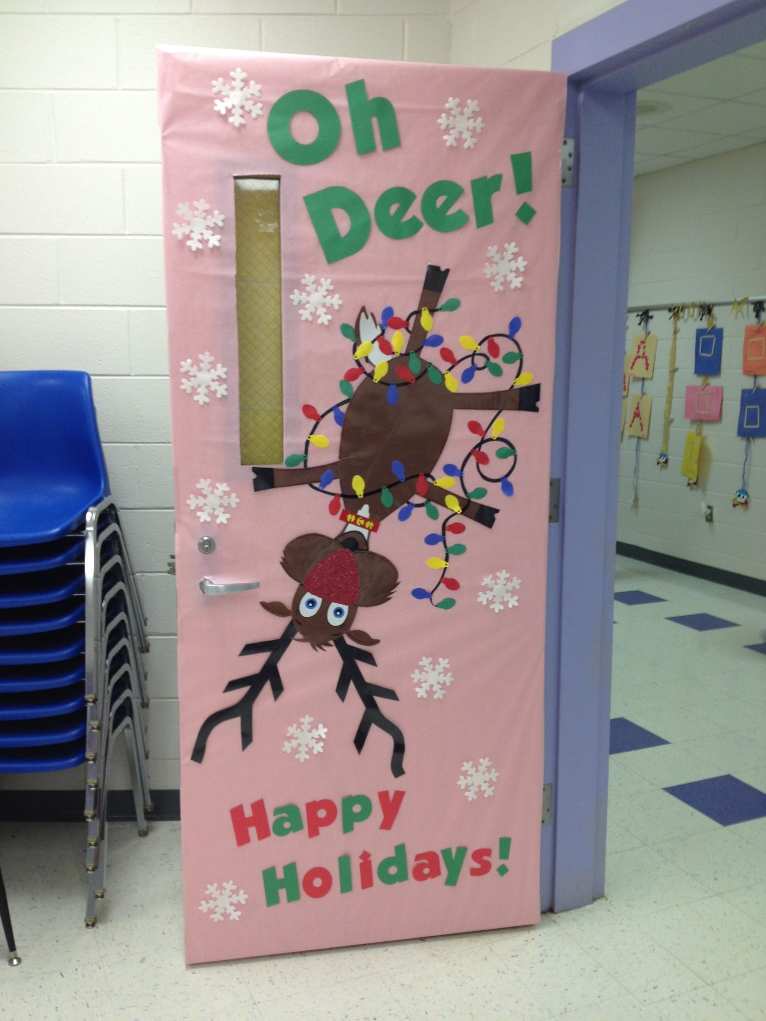 Going back to this idea with team mateher door the reindeer will be