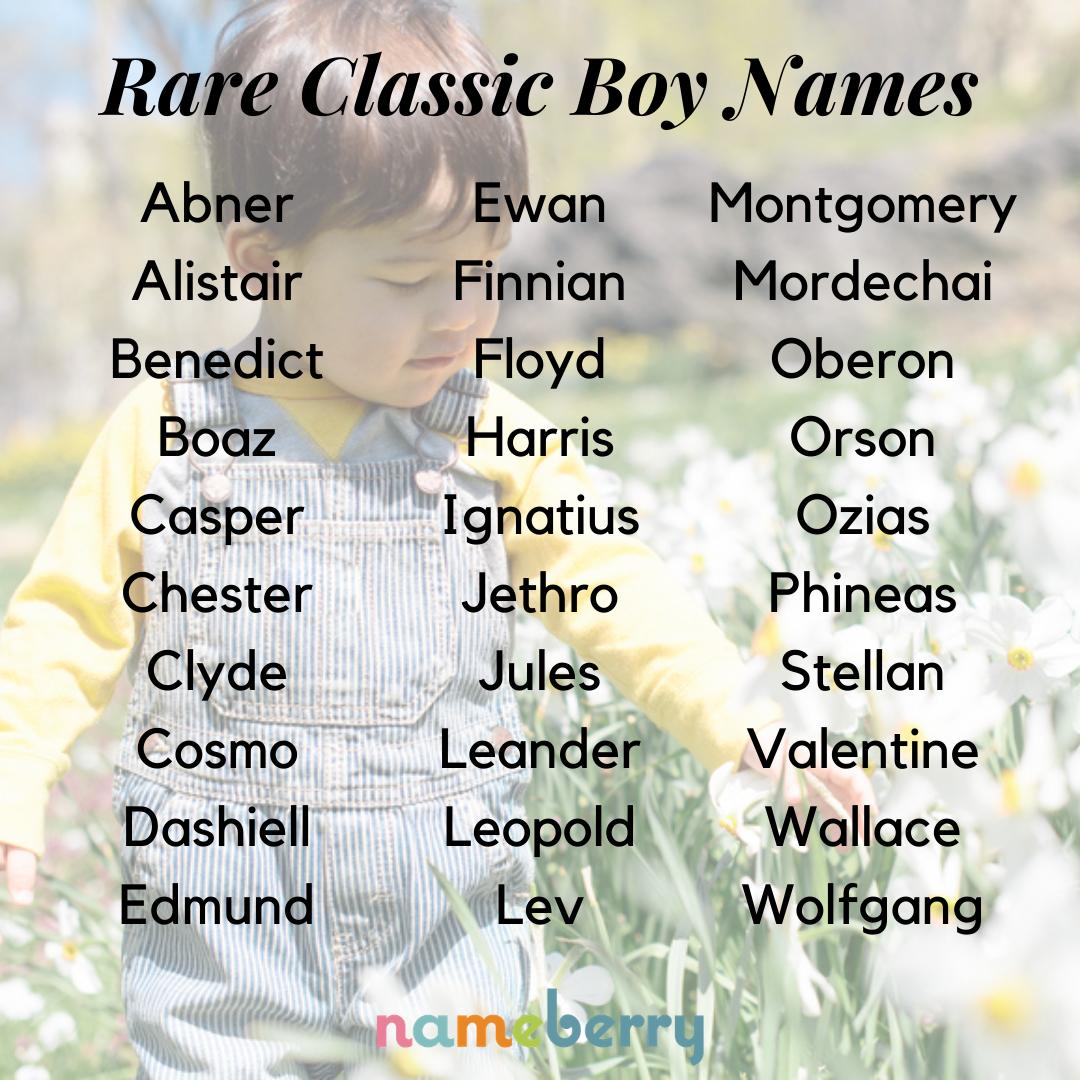 Rare Classic Boy Names