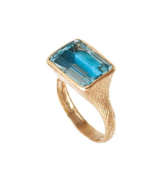 Blue Topaz  Ring   December Birthstone Ring  by ToledoJewelry