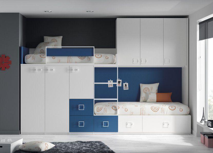 Camas altas camas tren y literas gu a para elegir i - Camas dobles infantiles para espacios reducidos ...