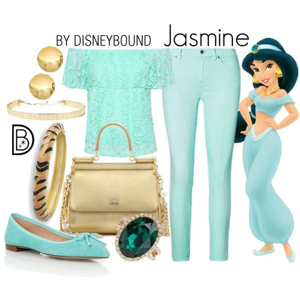 Jasmine by leslieakay on Polyvore featuring WearAll, Ralph Lauren, Talbots, Dolce&Gabbana, Kenneth Jay Lane, ALDO, disney, disneybound and disneycharacter