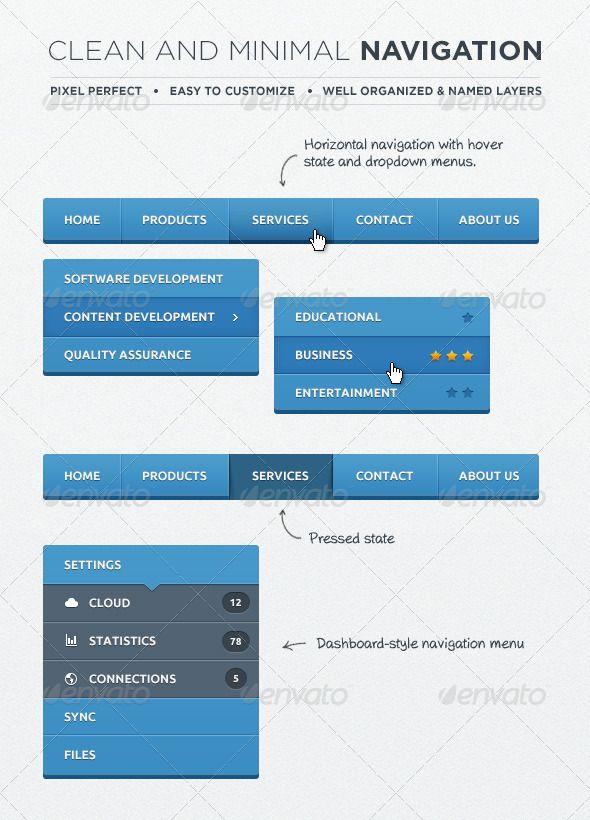 Web Navigation Elements Navigation Navigation Bar Web Inspiration