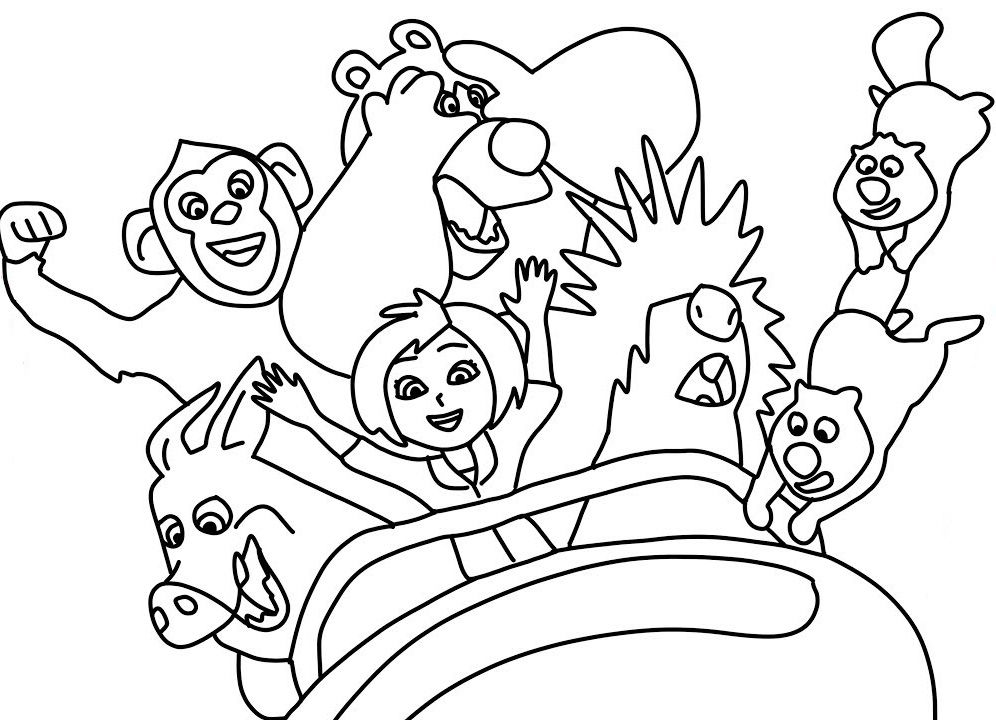 Wonder Park Coloring Pages | Coloring pages, Toddler coloring book ...