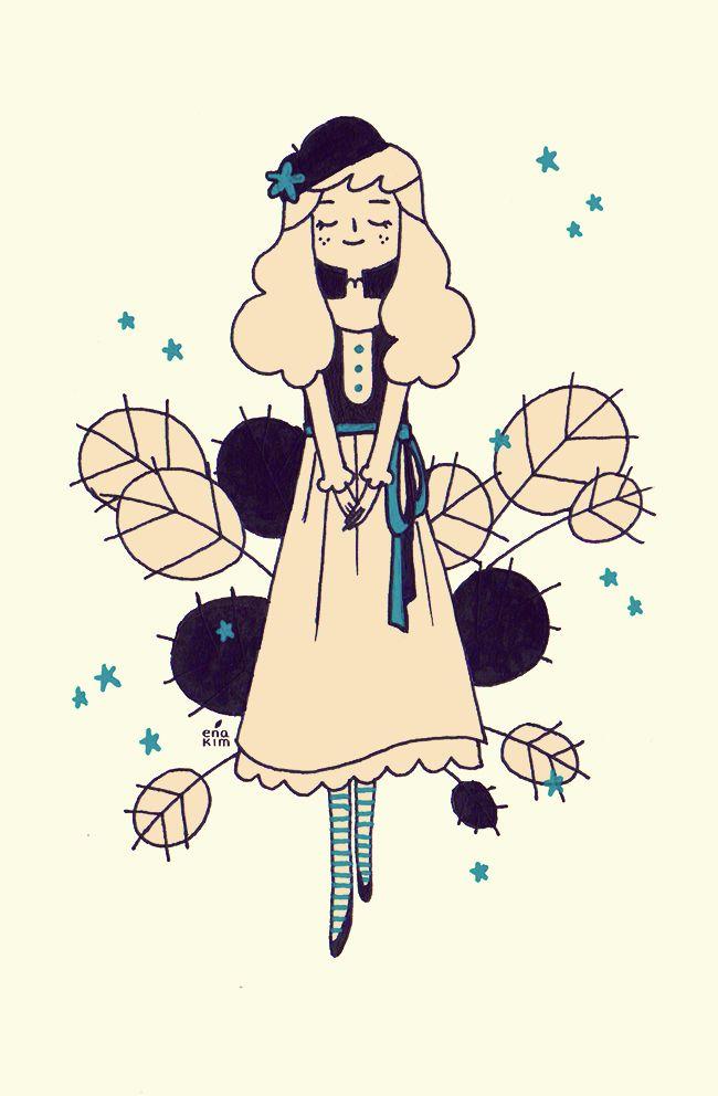 inspired by mori girl fashion - Art By Ena Kim