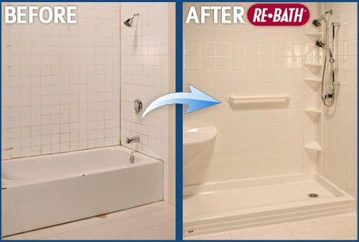 Before And After Photo Florida Rebath Bathroom Remodeling