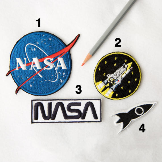 Vintage 2 Piece Young Astronauts NASA Embroidered Patch Set NASA Space NOS