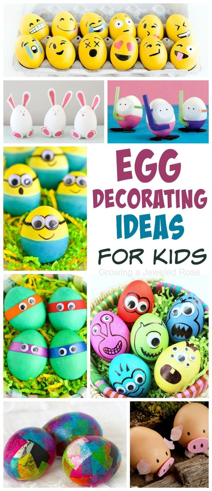 30 AWESOME ways to dye u0026 decorate Easter eggs with kids- so many fun ideas  sc 1 st  Pinterest & Decorating Easter Eggs with Kids | Easter Egg and Decorating