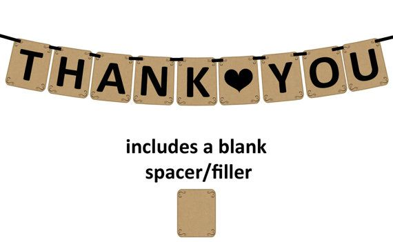 photo about Thank You Banner Printable called THANK By yourself Printable Social gathering Banner and Decoration as a result of