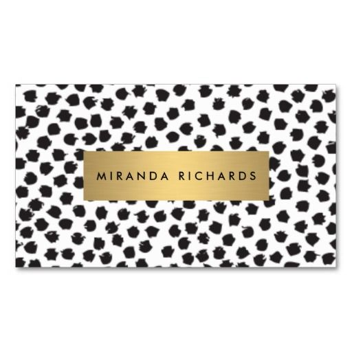 Luxe black confetti dots ii with gold bar business card stock luxe black confetti dots ii with gold bar business card colourmoves Images