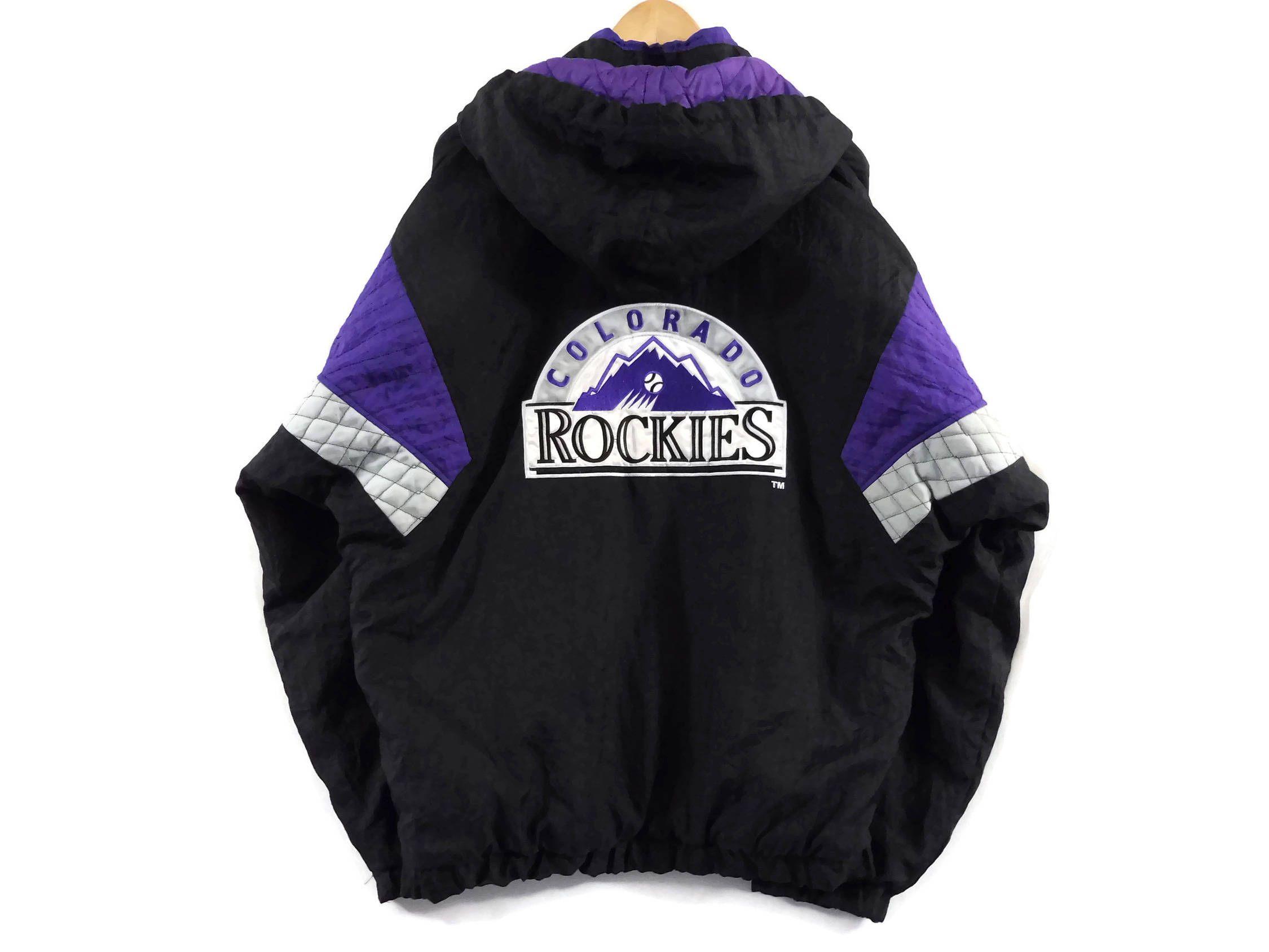the best attitude 7cc74 7382f VTG Colorado Rockies Starter Jacket - Large - Hooded - MLB ...