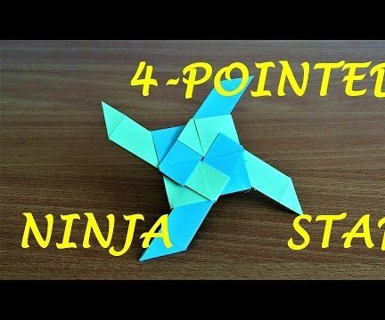 How To Make A 4 Pointed Transforming Ninja Star Origami