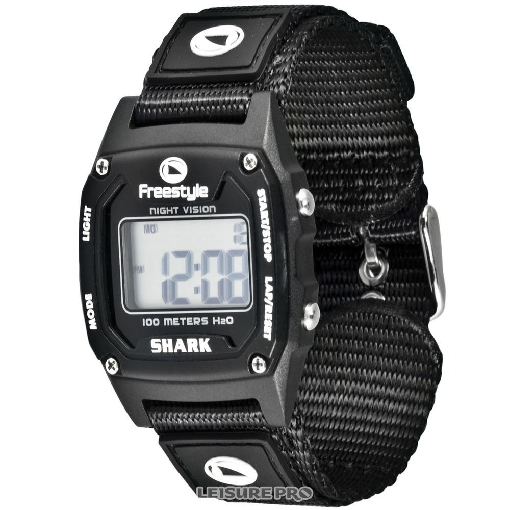Watch wrist parts - Shark By Freestyle Classic Mini Watch Black With Nylon Band In Jewelry Watches
