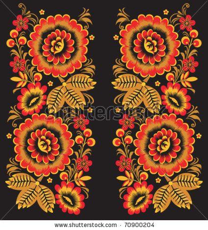 Stock Vector Golden Floral Ornament