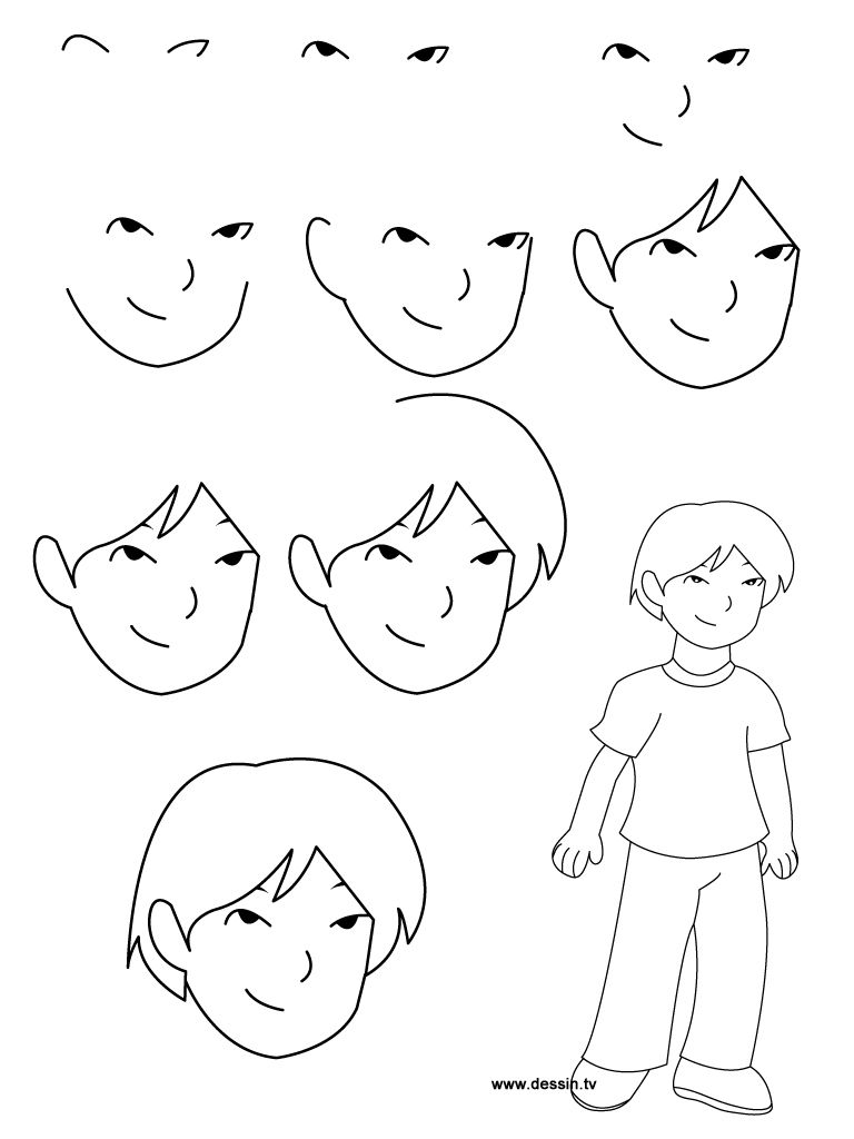 Jpeg learn how to draw a boy with simple step by step for Simple drawings step by step