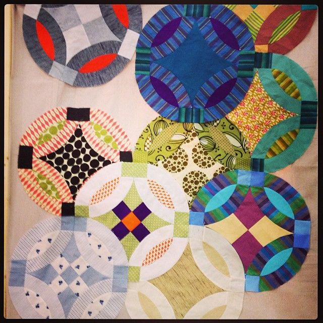 Quilt market inspiration! Circles?  I am not there but dang, it is cute